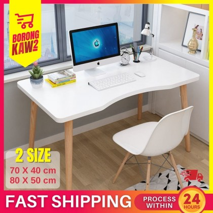 2 Sizes Nordic Style Computer Desk Writing Table Home Office Desks Modern Simple Study ( TABLE ONLY )