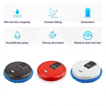 XIMEIJIE 3 IN 1 Smart Silent Mopper Robot Automatic Rechargeable Sweeping Mopping Cleaner Vacuum Pembersih Rumah (XM06)