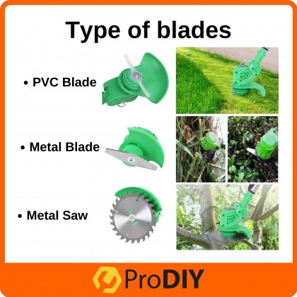 Malaysia Ready Stock PRODIY 12V Lithium Battery Cordless Grass Trimmer Lawn Mower Electric Mesin Rumput Grass Cutter